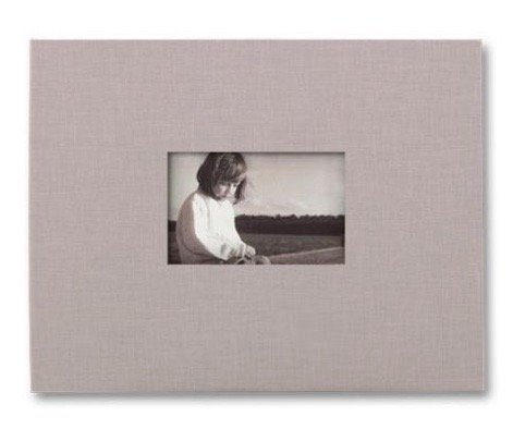 (NEWPORT postbound PLATINUM-GREY/black cloth 11x14 album by Kolo - 11x14 )