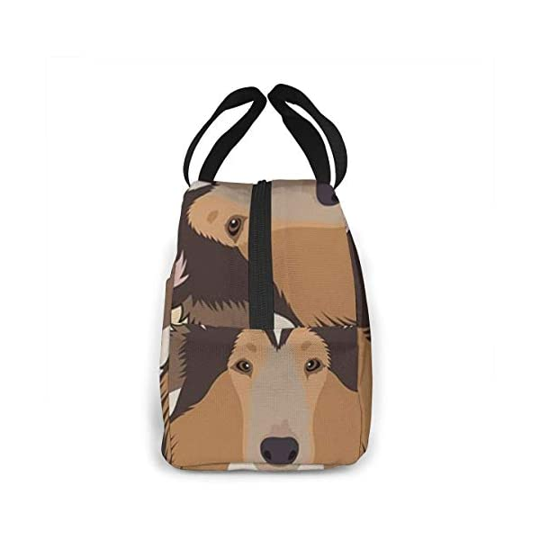 Rough Collie Portable Insulated Lunch Bag Workers Students Simple and Elegant Portable Insulation Lunch Bag 3