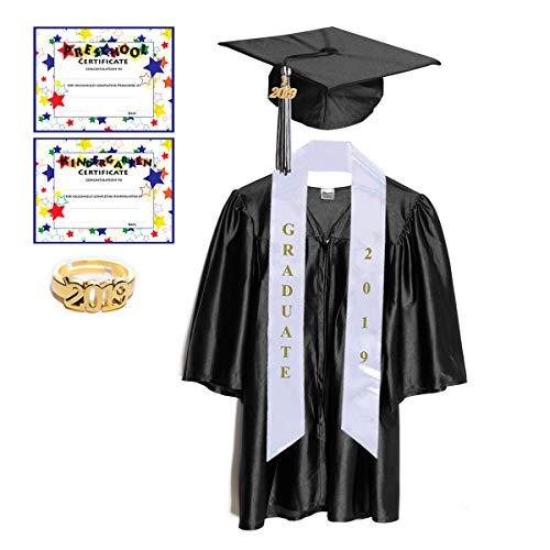 cf002b928d Preschool   Kindergarten Graduation Cap and Gown with Tassel