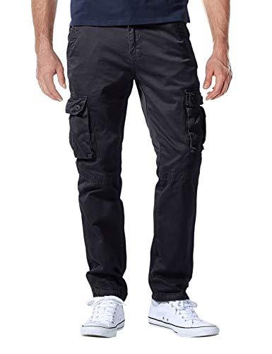 Match Men's Casual Wild Cargo Pants Outdoors Work Wear #6531(32,Grayish Black) (Casual Outdoor)