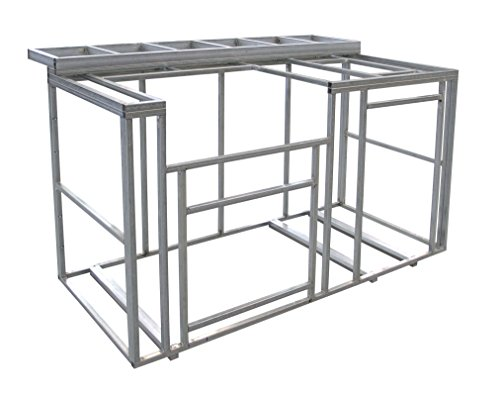 Cal Flame 6' Outdoor Kitchen Island Frame Kit with Bartop