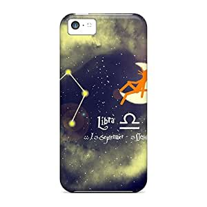 New Arrival Case Cover With CCduNjl4768eepQO Design For Iphone 5c- Cat Kittycat Zodiac Sign Libra