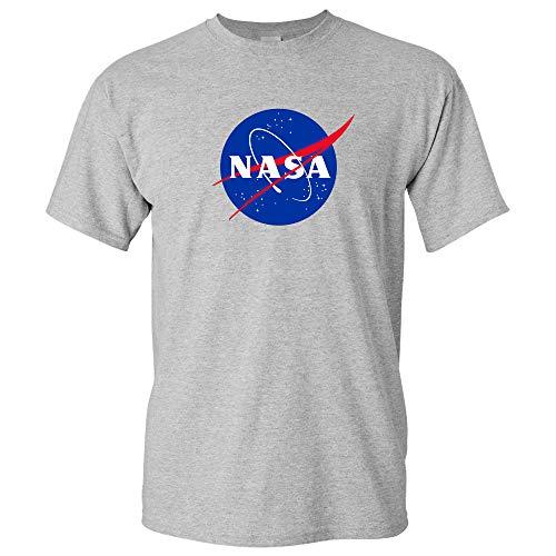 NASA Logo - National Aeronautics and Space Administration T Shirt - Large - Sport Grey