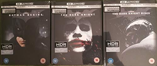 THE DARK KNIGHT TRILOGY 4K UHD Blu-ray Filmbook Digibook [Region-Free Import includes Batman Begins, The Dark Knight, The Dark Knight Rises] (The Dark Knight Rises Blu Ray Steelbook)
