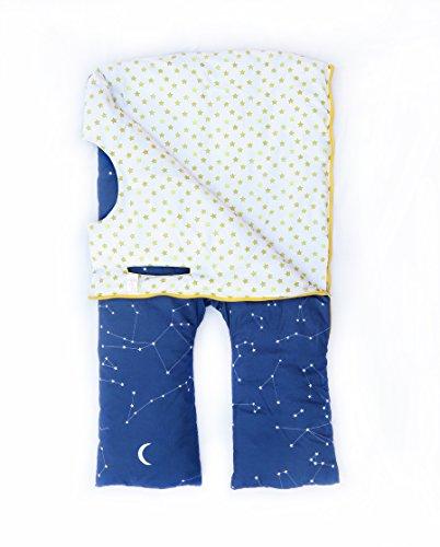 Sacos de dormir infantiles con piernas. Talla 3 años. Relleno FINO, Modelo ESTRELLAS.: Amazon.es: Hogar