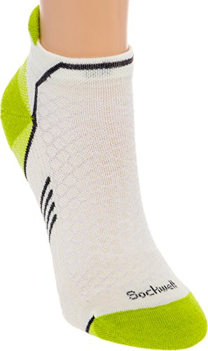 Sockwell Womens Incline Inspire Athletic No Show Micro Socks  Natural  Medium Large