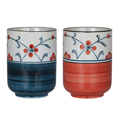 Sunddo Japanese Tea Cups Ceramic Teacup Mug Set of 2 10oz/300mL