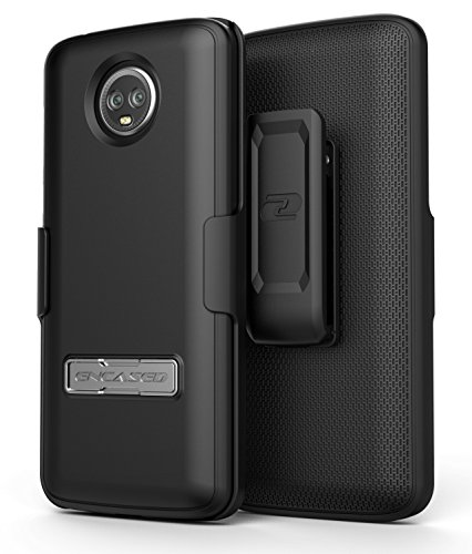 Moto G6 Belt Clip Holster - Slim Combo Case design with Reinforced Alloy Kickstand for Motorola G6 (Slimline Series) by Encased (Image #2)