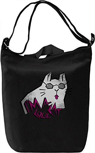I'm A Cool Cat Borsa Giornaliera Canvas Canvas Day Bag  100% Premium Cotton Canvas  DTG Printing 