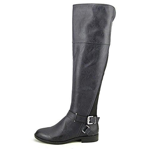 Toe Womens High Bar Fashion Closed Dolly Knee Boots Navy III Z5nYYH1I