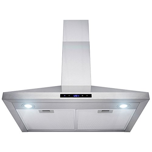 AKDY 30'' Wall Mount Stainless Steel Touch Control Kitchen Range Hood Cooking Fan by AKDY (Image #2)