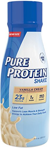 Meal Vanilla Cream (Pure Protein Reformulated Shake, Vanilla Cream, 11 Ounce, 4 Count)