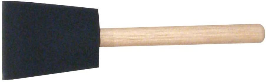 """2/"""" Jen Poly Foam Brush With Wood Handle PAINT OR STAIN BRUSH CASE 48"""