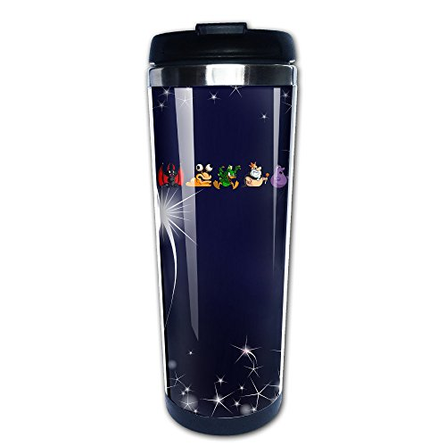 ASCHO2 - Indoor And Outdoor Cup - Stainless Steel Duck Sports Water Bottle, 14-Ounce - Perfect For Loving A Hot And Cold Beverage