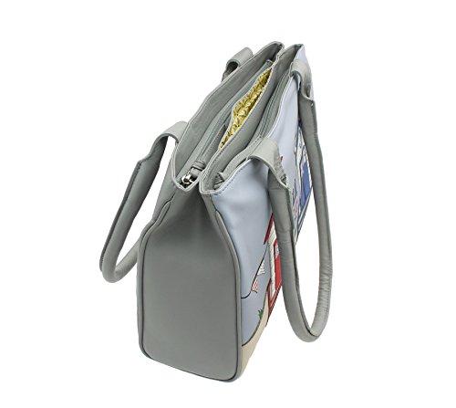 Grey Pelle Mala Grigia Collection 7109 Spalla Borsa In Beau 89 zFwZqCR