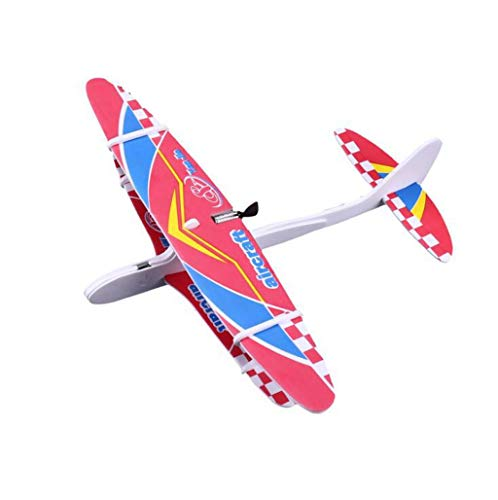 EAPTS Hot Electric Hand Throw Flying Glider Plane Toys Flying in The Sky for Long Time Foam Aeroplane Model Outdoor Sports (A01)