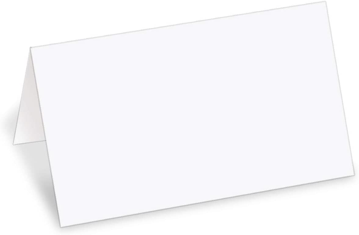 PaperDirect 38lb White Cover Stock Folded Place Cards, Micro-Perforated, 2
