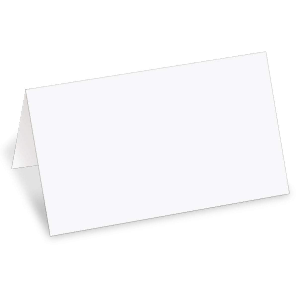 PaperDirect 38lb White Cover Stock Folded Place Cards, Micro-Perforated, 2'' x 3 1/2'', 400/pack, Laser and Inkjet Compatible by PaperDirect