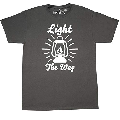 inktastic Light The Way with Oil Lamp T-Shirt XX-Large Charcoal Grey