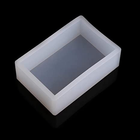 KunmniZ - Moldes rectangulares de resina para moldes de silicona para tartas, gelatina, chocolate