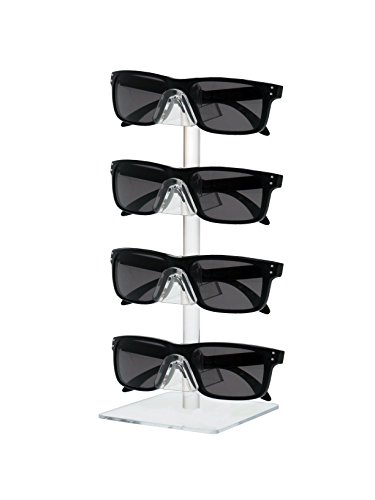 Marketing Holders Clear Acrylic 4 Tier Sunglasses Eyeglasses Square display stand. by Marketing Holders