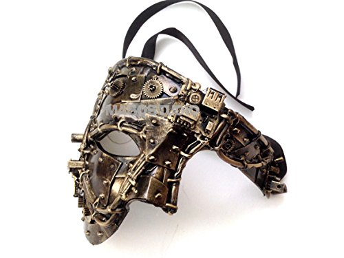 Unisex Steampunk Robot Phantom Masquerade Ball Mask Burlesque Dance Birthday Prom Halloween Party -