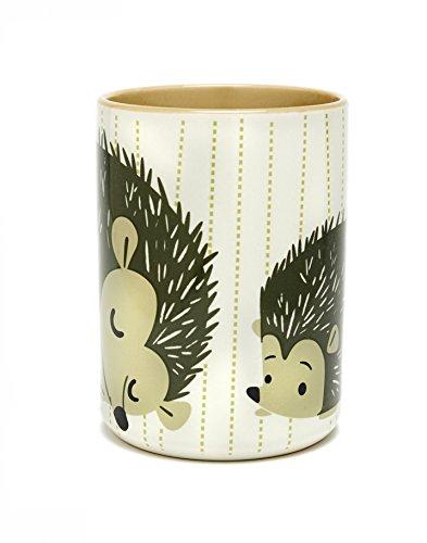 Hedgehog Coffee Mug White Striped Kitsch/'n Glam SYNCHKG058172