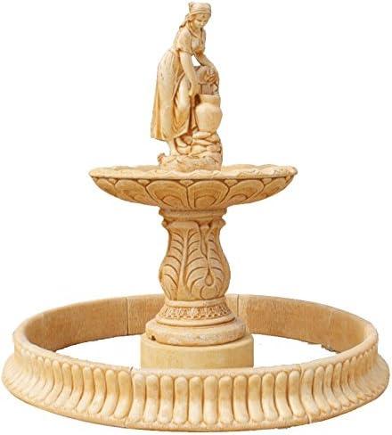 DEGARDEN AnaParra Fuente Central Toscana con Estanque hormigón-Piedra Exterior 205X224cm.: Amazon.es: Jardín