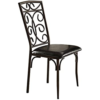 metal dining room chair | Amazon.com - Homelegance Dryden Metal Dining Chairs with ...