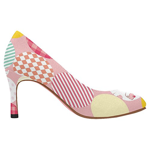 InterestPrint Womens Classic Fashion High Heel Dress Pump Shoes Multi 5 LIGshiWasE