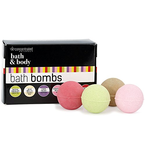 Bath Bomb Set Chic Luxury Gift Box Set of Scented Fizzy Spa Bath Ball Bombs for Relaxing & Energizing   Moisturizing w/Shea Butter   Pretty Pastel Variety Pack   6 ()