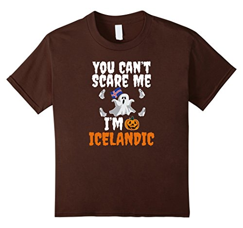 Iceland Halloween Costume (Kids Can't Scare Me I'm Icelandic Funny T-shirt Halloween Iceland 6 Brown)