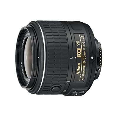 Nikon AF-S DX NIKKOR 18-55mm f/3.5-5.6G Vibration Reduction II Zoom Lens with Auto Focus for Nikon DSLR Cameras from Nikon