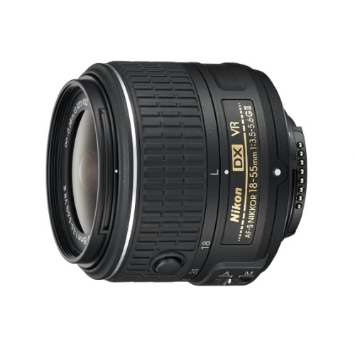 Nikon AF-S DX NIKKOR 18-55mm f/3.5-5.6G Vibration Reduction II Zoom Lens with Auto Focus for Nikon DSLR Cameras (Nikon Cameras D3200)