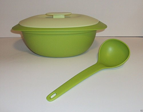 Tupperware Legacy Soup Tureen Green with Ladle (Green Ladle)