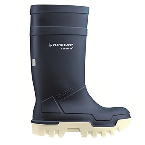 Nuovo Stivale Dunlop Purofort Thermo + full safety blu/bianco - E662673,