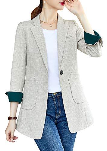 Green Corduroy Blazer - Women's Blazer Jacket Corduroy Sport Coat Smart Formal Dinner Cotton Jacket Slim Fit Two Button Notch Lapel Coat Dark Green