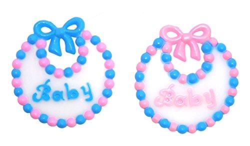 ACI PARTY AND SPIRIT ACCESSORIES Plastic Baby Bib, Multi-Color, 12 Piece (Baby Pkg Girl)