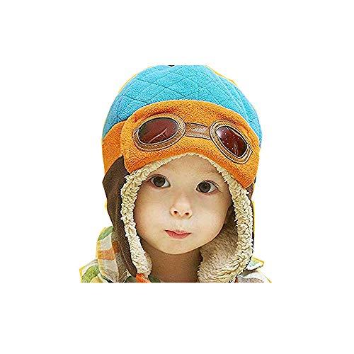 Winter Baby Toddler Boy Girl Kids Pilot Aviator Warm Cap Hat Beanie YG