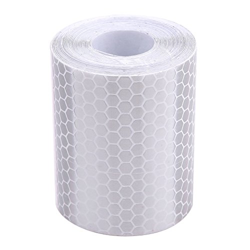 Whitelotous 2 x 120 Inch Reflective Tape Conspicuity Diamond Grade Tape, Automotive, Motorcycle, Trailer Tractor Truck Reflectors, Safety Caution Warning (White)
