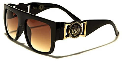Kleo Flat Top Aviator Gold Buckle Hip Hop Rapper DJ Celebrity ()