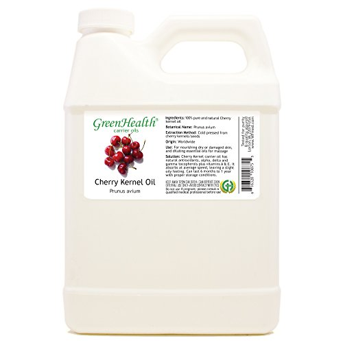 GreenHealth Cherry Kernel Oil - 32 fl oz (946 ml) - 100% Pure Virgin Cold Pressed