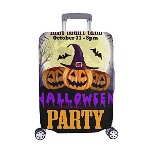 Halloween Party Flyer Pumpkins Spandex Trolley Case Travel Luggage Protector Suitcase Cover 28.5 X 20.5 -