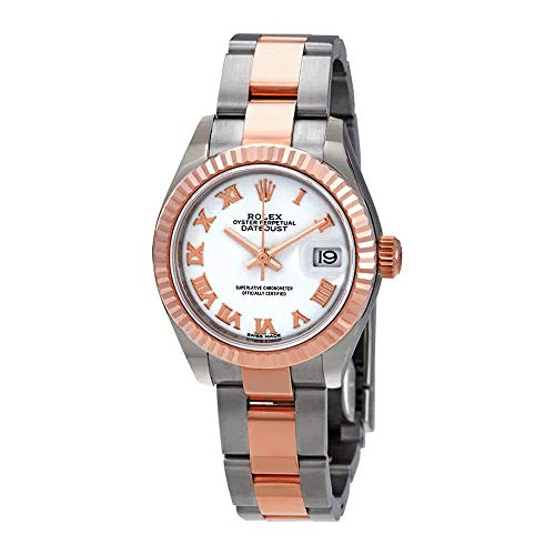 - Rolex Lady-Datejust 28 White Dial Ladies Steel and 18kt Everose Gold Oyster Watch 279171WRO