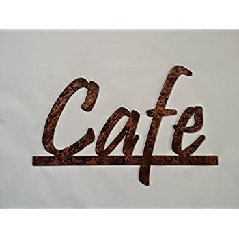 Cafe Word On Bar Kitchen And Home Decor Metal Wall Art Antique Copper