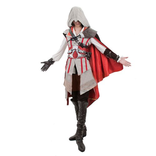 Anime Cosplay Costume Assassin s Creed 2 Ii Ezio Auditore Black Assassin  Outfit (Men-Large f26b7b4495ac