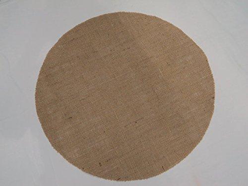 Round Burlap Placemats (Round Ruffled Burlap Mat)