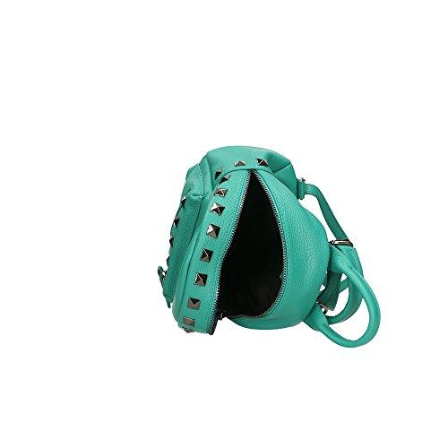 Turquoise Italy à Aren Made in véritable en Sac femme Cm dos cuir 17x20x11 gawOgHpq