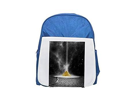 Planet, Astronaut, Space, Pyramid - Mochila infantil estampada azul, mochilas lindas,