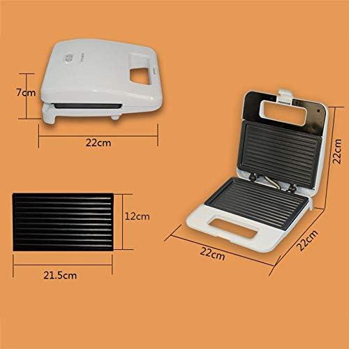 YGGY Presse-Hamburger pour Petit-déjeuner 750W Machine à Sandwich électrique pour Petit-déjeuner Cuisson antiadhésive Portable